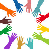 Colorful hands stock illustration