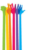 Colorful hands forming one to five number Royalty Free Stock Images