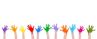 Colorful hands Royalty Free Stock Photo