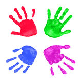 Colorful hands prints Royalty Free Stock Images