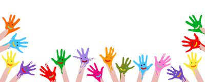 Colorful hands Royalty Free Stock Images