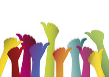 Colorful hands on white background Stock Photos