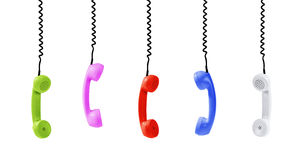 Colorful handsets -Clipping Path Stock Image