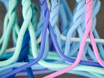 Colorful hanger Stock Photo