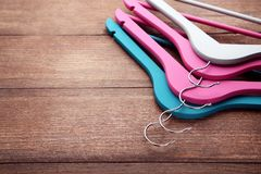 Colorful hangers Royalty Free Stock Photography