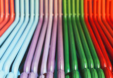 Colorful Hangers Stock Image