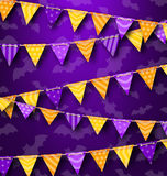 Colorful Hanging Bunting for Holiday Party, Cute Decoration Royalty Free Stock Photos