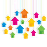 Colorful hanging house pattern background design Royalty Free Stock Photography
