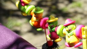 Colorful Hanging Pinata stock footage