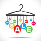 Colorful hanging sale text Stock Photo