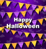 Colorful Hanging for Triangular String Halloween Party Royalty Free Stock Image