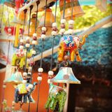 Colorful hangings. Clicked this picture in an exhibition Royalty Free Stock Images