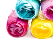 Colorful hanks of ribbons Royalty Free Stock Images