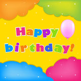 Colorful Happy Birthday Background Royalty Free Stock Photography