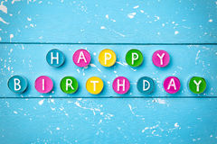 Colorful Happy Birthday Background With Copyspace Stock Photo