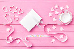 Colorful Happy Birthday background Royalty Free Stock Photo