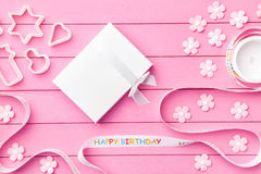 Colorful Happy Birthday background Stock Photo
