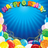 Colorful Happy Birthday Background Template. Ready for Your Text and Design Royalty Free Stock Photo
