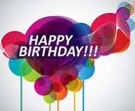 Colorful Happy Birthday banner. Vector illustration for your artwork Stock Photo