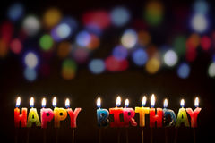 Colorful Happy Birthday Candles - Stock Image Royalty Free Stock Image