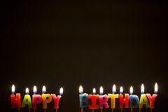 Colorful Happy Birthday Candles - Stock Image Royalty Free Stock Photo
