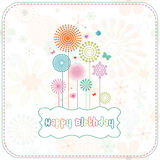 Colorful Happy birthday card Stock Images