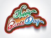 Colorful happy birthday text background Royalty Free Stock Photography