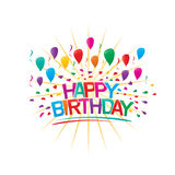 Colorful happy brithday illustration Royalty Free Stock Images