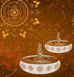 Colorful happy diwali background Royalty Free Stock Photography