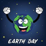 Happy earth day vector illustration. Colorful Happy earth day vector illustration Stock Images