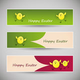 Colorful Happy Easter Banners Royalty Free Stock Photos