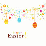 Colorful Happy Easter border Royalty Free Stock Image