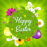Colorful Happy Easter Card vector illustration