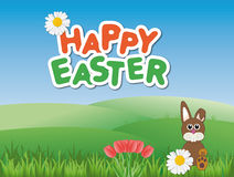 Colorful Happy Easter card Stock Photography