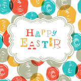 Colorful Happy Easter Card Design. Royalty Free Stock Photography