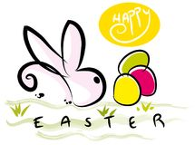 Easter bunny with colorful. Stock Image