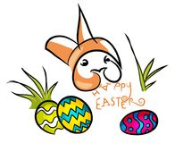 Colorful Happy Easter. Royalty Free Stock Photos