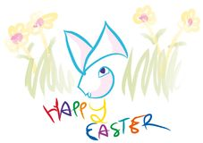 Colorful Happy Easter. Stock Photos