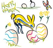Colorful Happy Easter composition. Stock Image