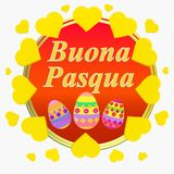 Colorful Happy Easter greeting card. Easter illustration . Bright background Happy Easter. Colorful Happy Easter greeting card. Easter illustration with royalty free illustration