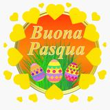 Colorful Happy Easter greeting card. Easter illustration . Bright background Happy Easter. Colorful Happy Easter greeting card. Easter illustration with vector illustration