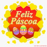 Colorful Happy Easter greeting card. Easter illustration . stock illustration