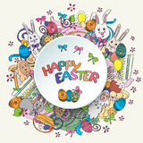 Colorful happy easter greeting card in vector Royalty Free Stock Images