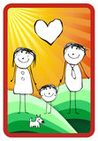 Colorful happy family illustration Royalty Free Stock Image