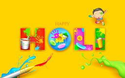 Colorful Happy Holi Stock Image