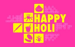 Colorful Happy Holi Royalty Free Stock Images