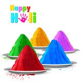Colorful Happy Holi Royalty Free Stock Photography