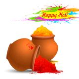 Colorful Happy Holi Stock Images