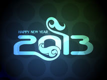 Colorful happy new year 2013 design. Vector illustration of colorful happy new year 2013 design Stock Photography