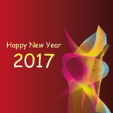 Colorful 2017 happy new year. Abstract colorful happy new year 2017 background stock illustration